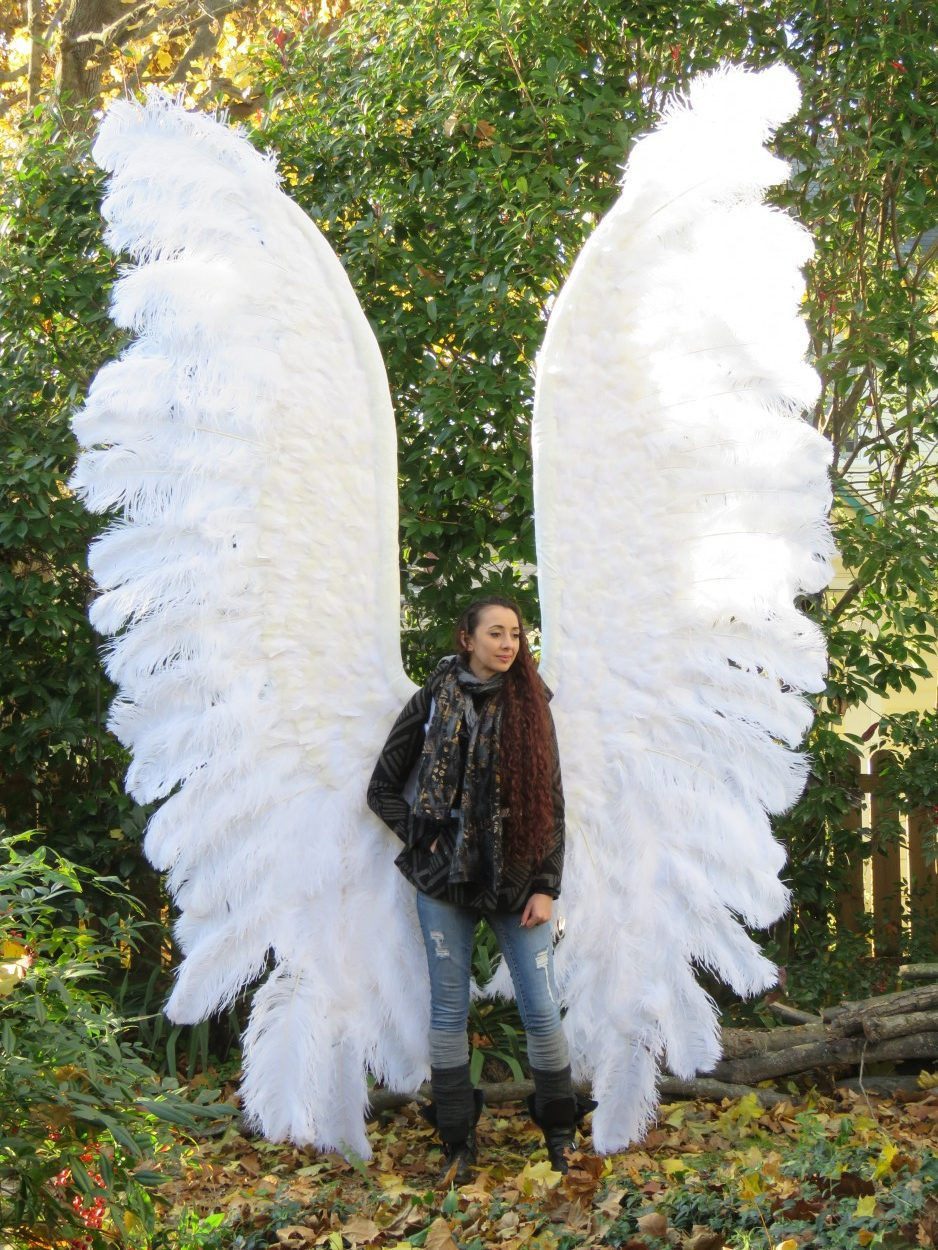 Stained Glass Angel Wings 11-12 inches tall