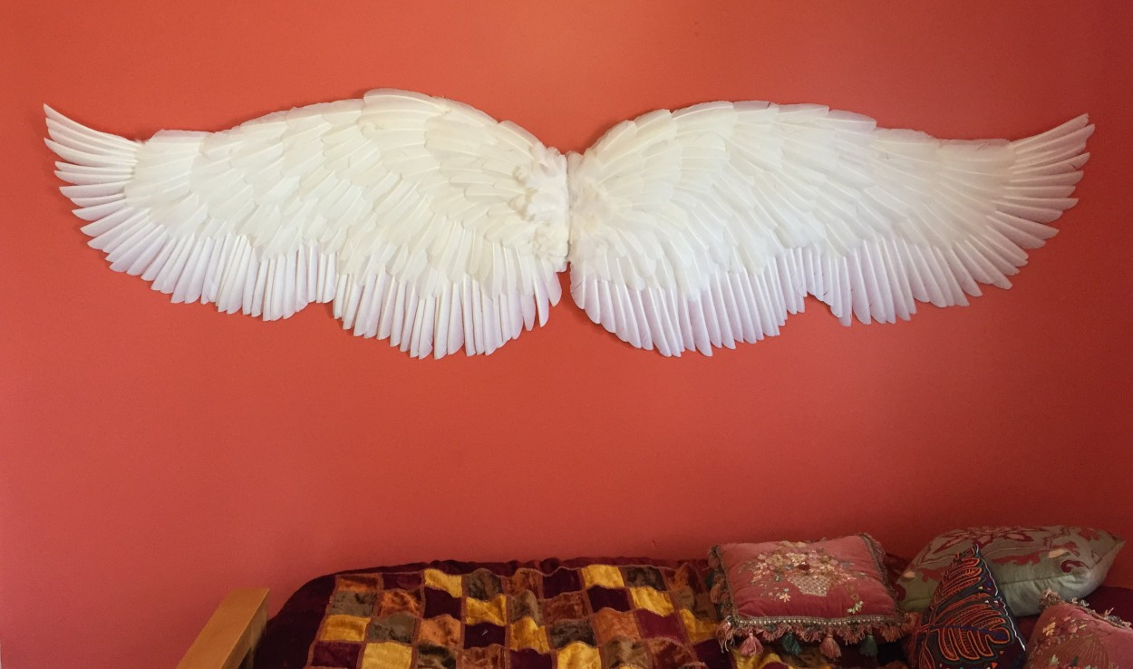 Outstretched Display Angel Wings To Hang On A Wall Angel