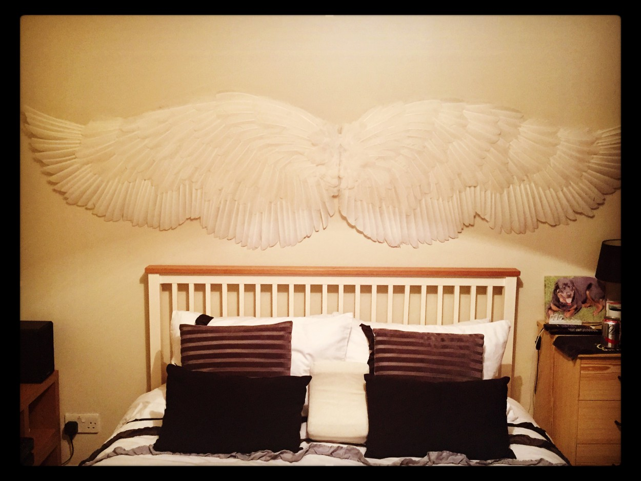 Outstretched Display Angel Wings to hang on a Wall - Angel Wing Makers