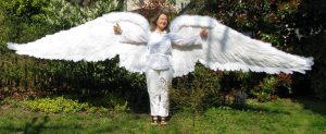 these are huge 16' wings fully extended out as if ready to take flight
